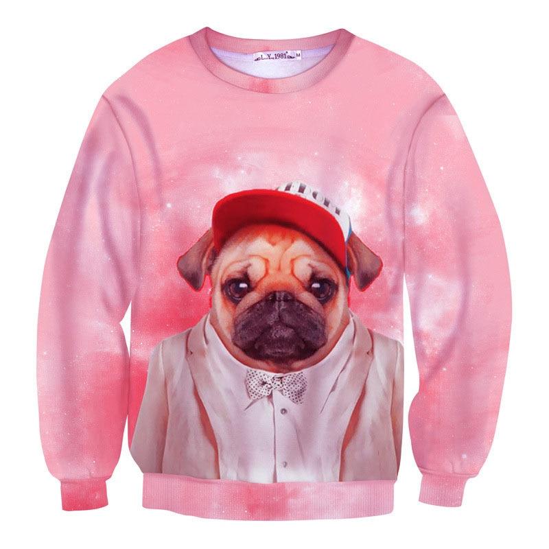 4448fdd0c4f0 New arrival Fleece 3d animal sweatshirt Dog Koala Deer Lion Horse Pig  wearring clothing Printed Fashion outdoor pullover hoodies