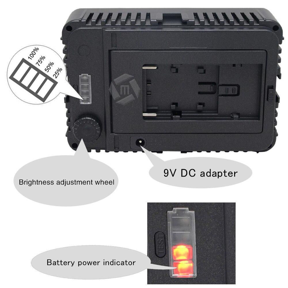 Mcoplus 130 led fotografia luce video di illuminazione per canon nikon sony panasonic olympus pentax & dv macchina fotografica comcorder vs cn-