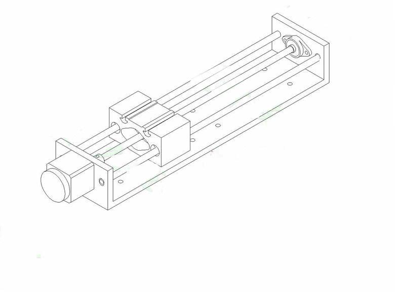 Tr8x8 Lead Screw Z Axis Cnc Linear Slider Slide Rail Effective