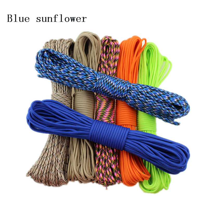 50ft New Paracord 550 Paracord Parachute Cord 7 Strand Parachute Cord Lanyard Outdoor Climbing Camping Survival hot sale 10ft reflective 550 paracord rope type iii 7 strand light reflecting for survival parachute cord bracelets paracord