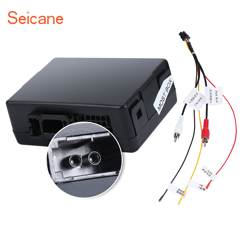 Seicane Voiture fiber Optique décodeur Boîte Bose pour 2003-2012 Porsche Cayenne Radio Amplificateur Audio Numérique Optique Convertisseur D'interface