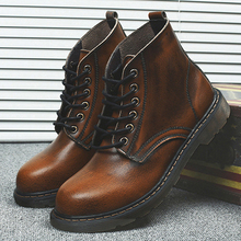 Fashion New Mens Ankle Boots Lace Up Vintage Shoes Hightops Shoe Winter Man men0025