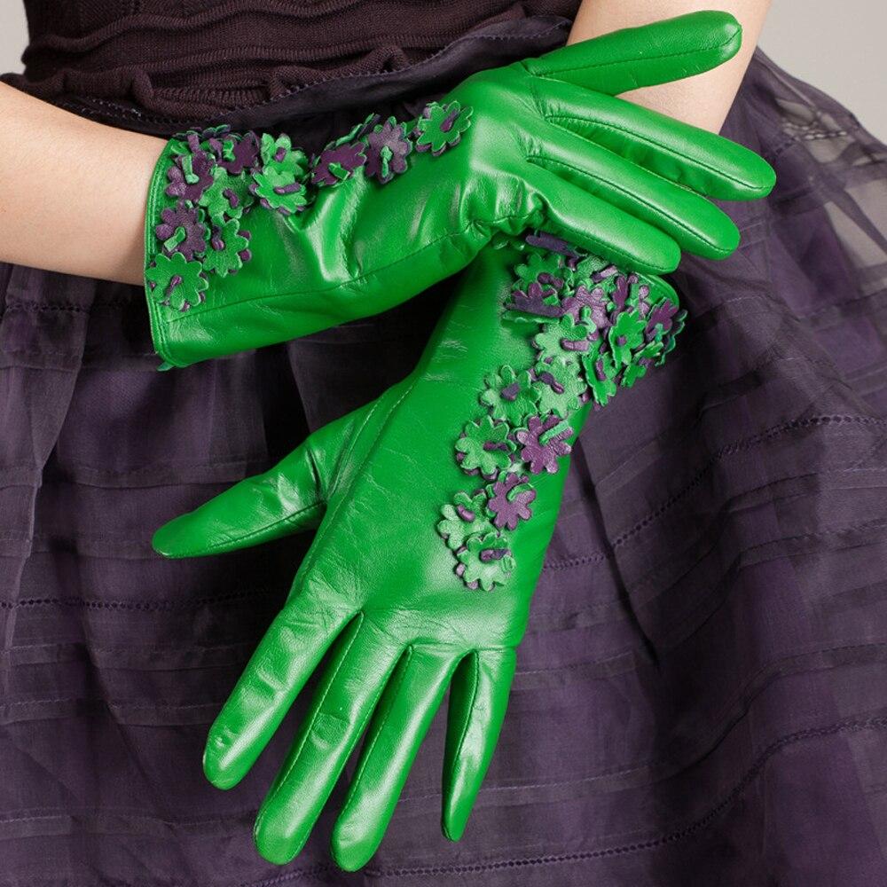 Free Shipping Kursheuel Luxurious Women Nappa Soft Suede Leather Long Fleece Lined Gloves Ku-001