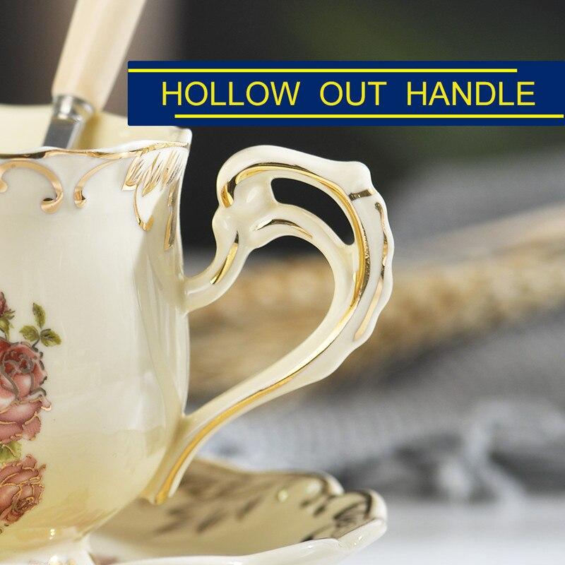 Британский высококачественный набор чайных чашек цвета слоновой кости, керамические кофейные чашки, набор керамических фарфоровых чашек и...