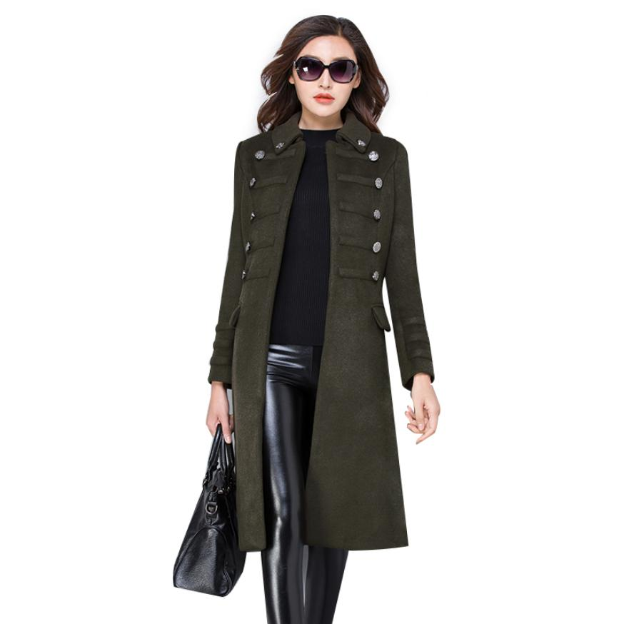 2018 winter fashion plus size wool women jacket coat high end double breasted female outerwear slim windbreaker trench L1105