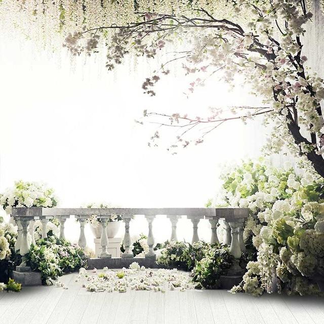 Wedding Flower Background: 200*300CM (7*10ft) Flowers Photo Vinyl Background Trees