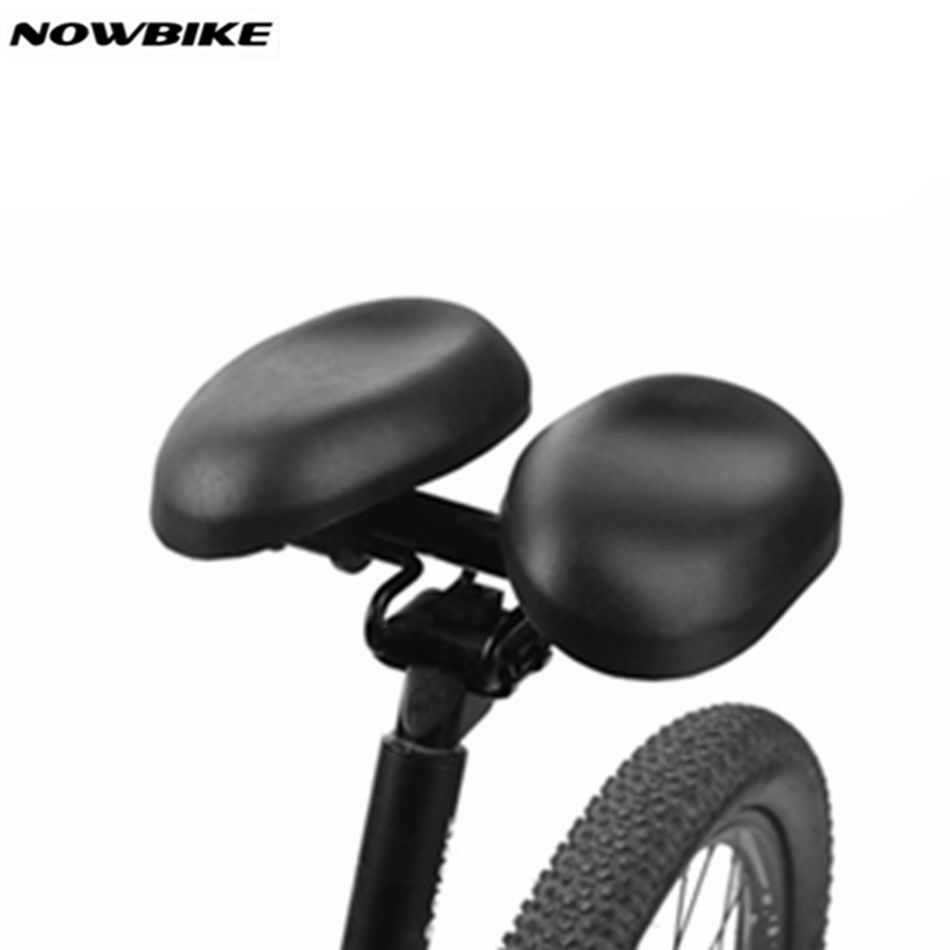 Nowbik Bicycle Saddle Wide Large Separate Bike Cycling Saddle Black Cycling Large Seats Cushion For road Comfortable Long Riding 2017 sale selim selle sella carbonio wide bicycle seat thicken bike saddle bicicleta cycling mtb cushion asiento sponge soft