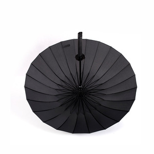 Image 5 - Créatif longue poignée grand coupe vent samouraï épée parapluie japonais Ninja comme soleil pluie droite parapluies automatique ouvert