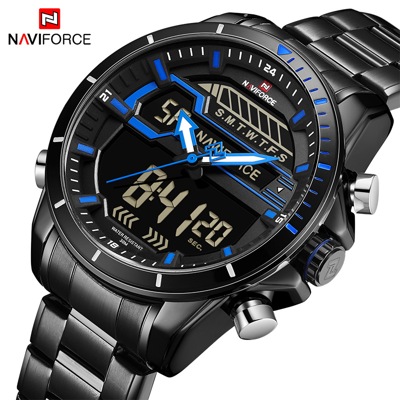 купить Men Watches Brand NAVIFORCE Fashion Sport Watch Man Waterproof Quartz Alarm Hour Chrono Clock Male Wrist watch Relogio Masculino по цене 1631.26 рублей