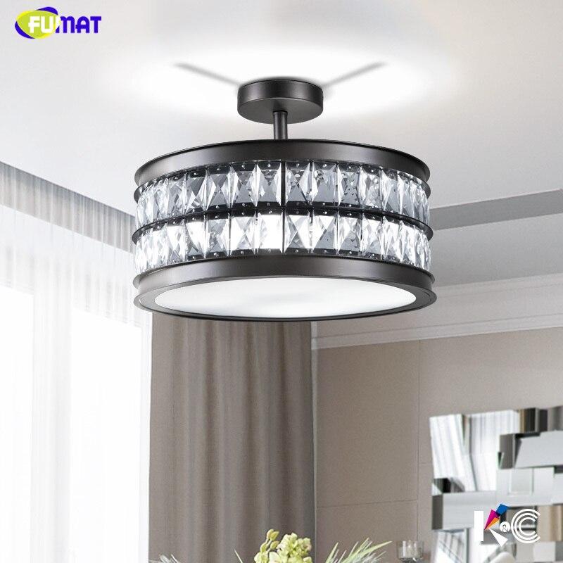 FUMAT Crystal Chandeliers Modern Brief Round Crystal Shade Lightings Living room Bed Room Led Loft K9 Crystal Chandelier Lights