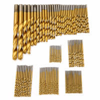 New 99pcs Set Titanium HSS Drill Bits Coated 1 5mm 10mm Stainless Steel HSS High Speed