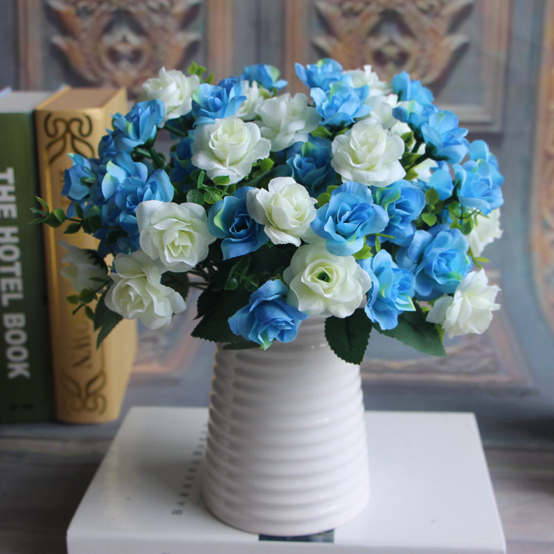 1 PCS Blue Artificial Flowers Ornaments Mother\'s Day Living Room ...