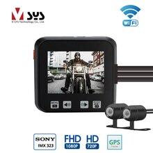 VSYS M6 M6H 2CH Wi-Fi Видеорегистраторы для мотоциклов Dashcam Full HD 1080 P 720 P спереди и сзади Водонепроницаемый объектив действие Камера регистраторы gps G-Сенсор