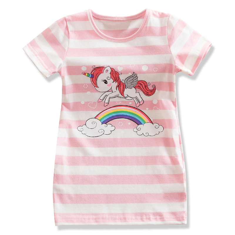 Little Baby Girl Unicorn Party Stripe Dress Children Clothing Girls Summer Dress Party Dresses Infant School Wear Casual Outfits infant baby kid children little girl pageant dress party dresses prom dresses 1t 6t g026