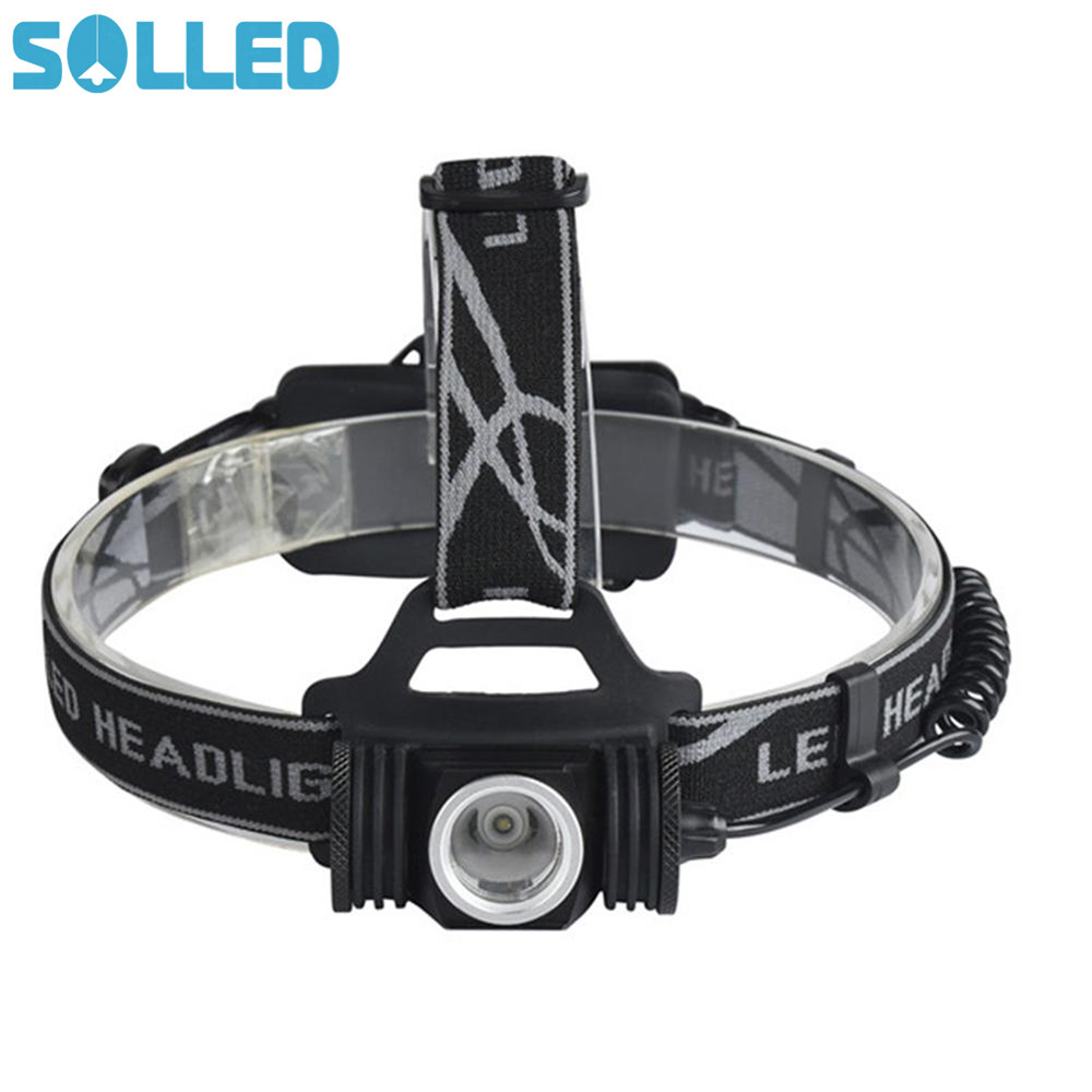 SOLLED USB Chargeable Headlamp CREE XPE Strong Light Long Shot for Outdoor Activity Hunting Fishing Waterproof Angle Adjustable