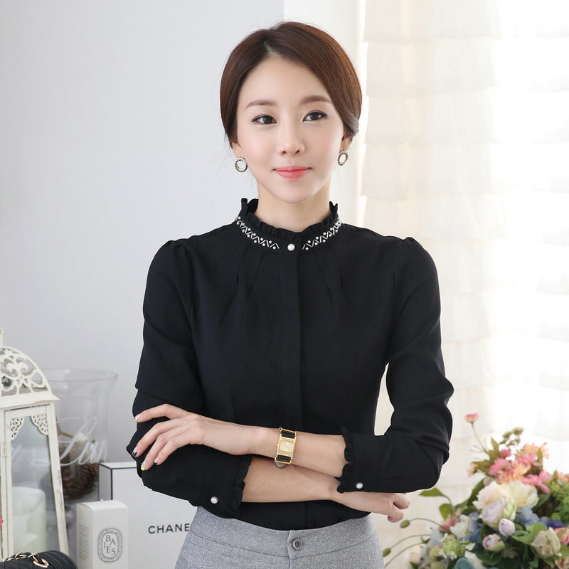 New professional long sleeved large size shirt ladies women s shirt clothes  uniforms-in Blouses   Shirts from Women s Clothing on Aliexpress.com  b38fcc7b3666