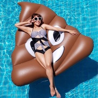 2019 Selling Inflatable Poop toys Swimming Ring Giant Pool Float Toy Circle Beach Sea Party Inflatable Mattress Water Adult Kid