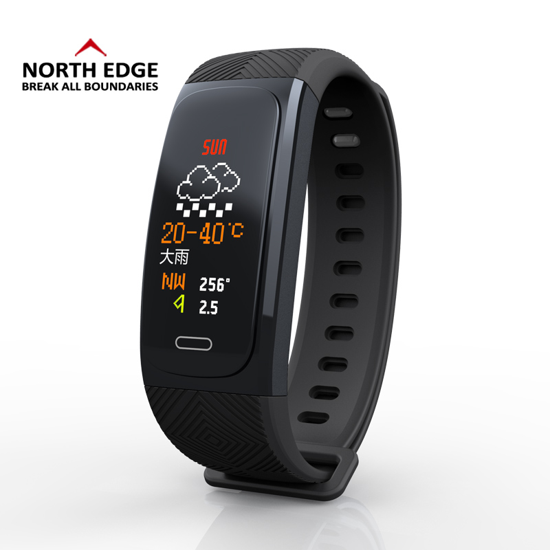 Bluetooth Sport Smart Watch GPS Pedometer Heart Rate Monitor NORTH EDGE Wristband Waterproof  Weather Smart Bracelet WatchbandBluetooth Sport Smart Watch GPS Pedometer Heart Rate Monitor NORTH EDGE Wristband Waterproof  Weather Smart Bracelet Watchband