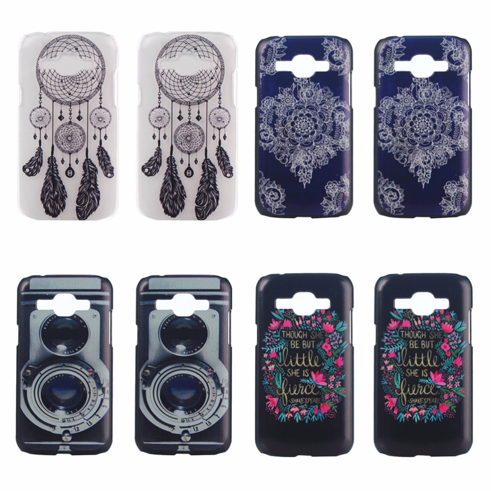 Shenzhen GL Plastic Co., Ltd. For Samsung J1 2015 Back Cover Skin Tribal Florla Flowers Feather Pattern Hard PC Phone Case Shell For Samsung J1 2015 Coque