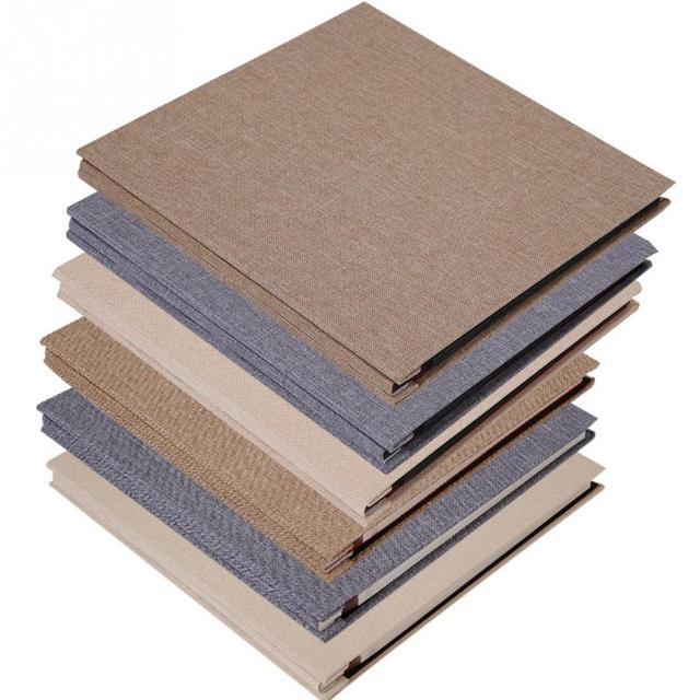 Simple Linen Cover Diy Self Adhesive Album Scrapbook Handmade