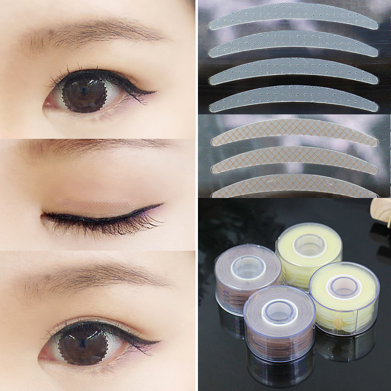 US $1 87 18% OFF|YOKPN 600 Pcs Mesh Lace Eyeliner Stripe Clear Double  Eyelid Tape Paste Invisible Make Up Eyelid Sticker Big Eyes Makeup Tools-in