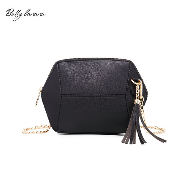4f0170d40923e3 BATTY BANANA Designer Women Leather Handbags Chains Crossbody Bags For Women  Tassel Shoulder Bag Women 2018 Clutch Purse Bag