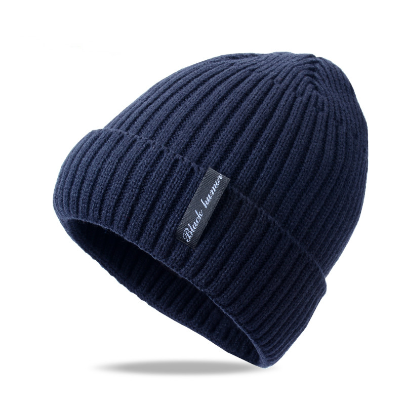 Winter wool knitted male beanies 6