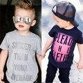 Camiseta 2016 de Calidad Superior de Los Bebés Tops Causal Marca Diseño Niños Moda camisetas Niños de Manga Corta de la Letra T-Shirts