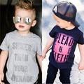 T-shirt 2016 Top Quality Baby Boys Tops Causal Brand Design Boys Fashion t Shirts Short Sleeve Kids Letter T-Shirts