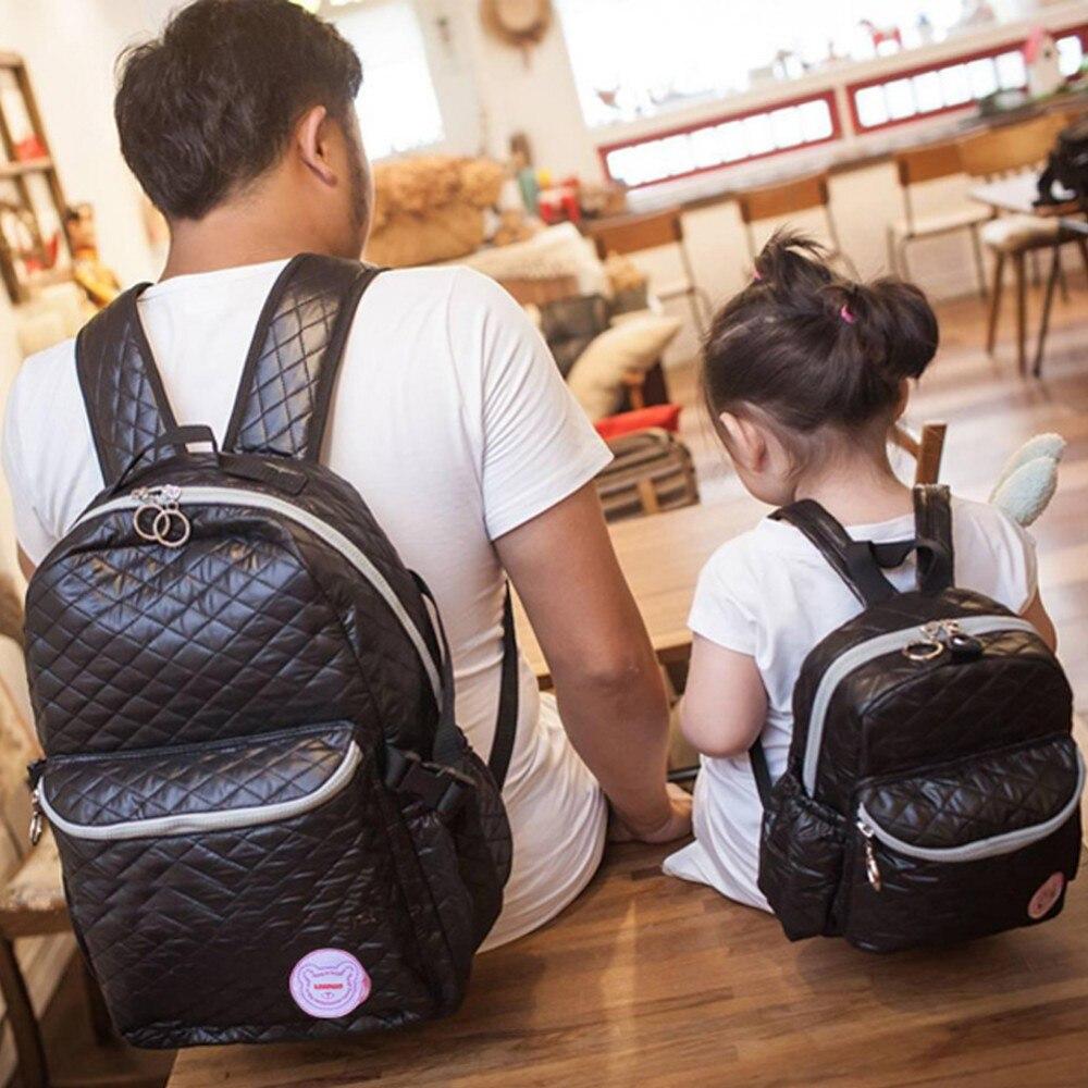 Big-Capacity Baby Diaper Bags Diamond Lattice Diaper Backpack Baby Bag For Mom Mami Bags Stroller Bag Bolsa Maternidade