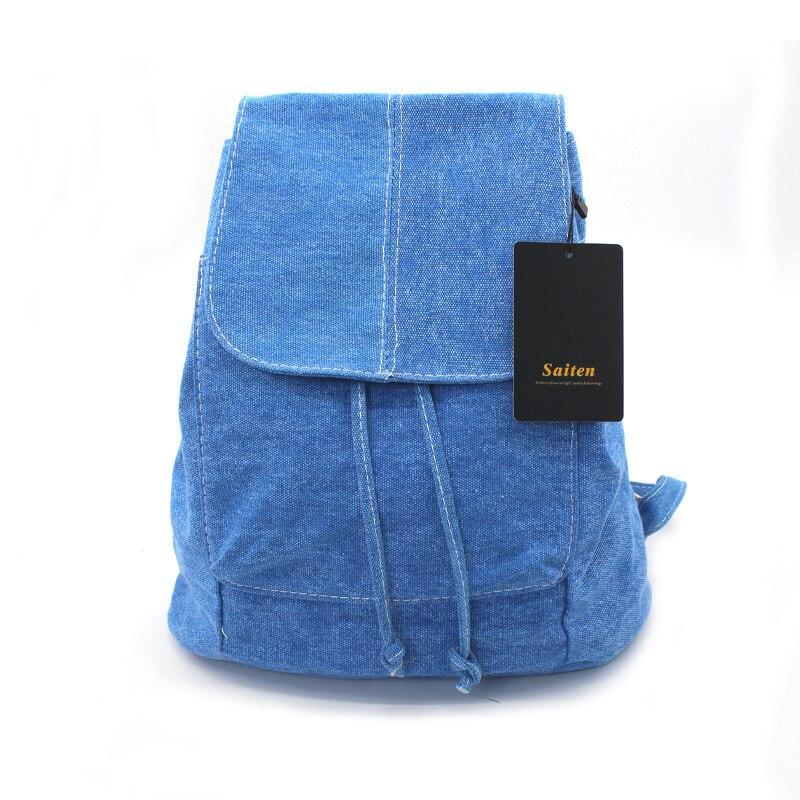 escola para adolescentes meninas mochila Color : Sky Blue/drak Blue/khaki