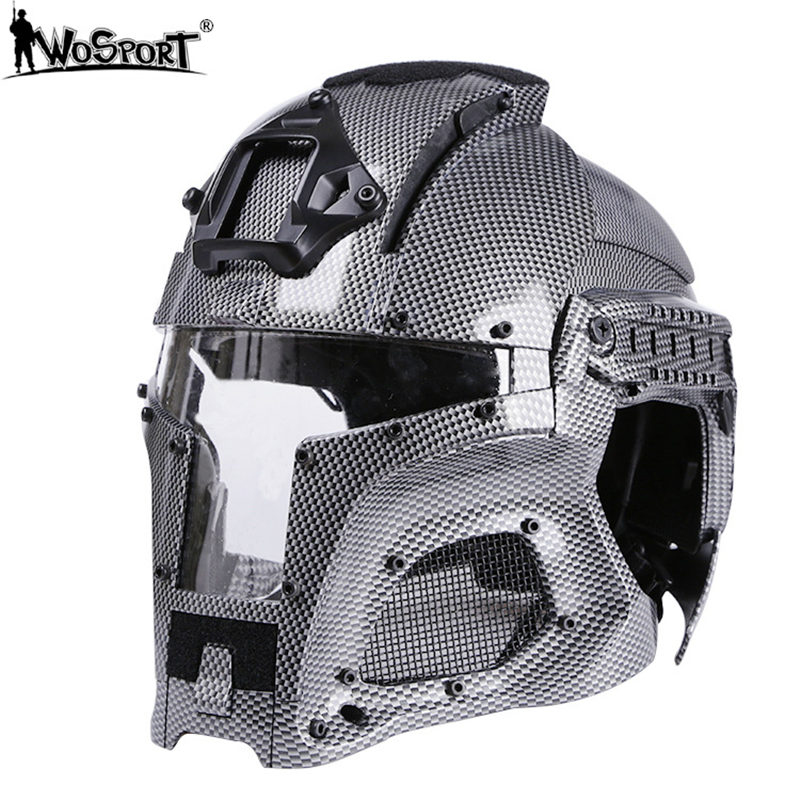 WoSporT 2019 Camouflage Military Helmet Side Rail NVG Shroud Transfer Base Outdoor Tactical Army Combat Airsoft Paintball Sports