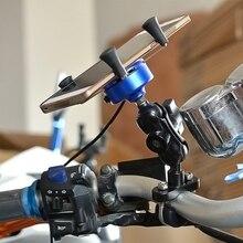 Высокое Качество Mutilfunction Мотоцикл Велосипед Телефон GPS Руль Рейку Вилка Держатель С USB Зарядное Устройство Для Iphone Samsung Телефон