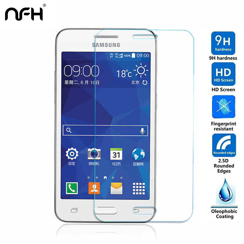 0.3mm Tempered glass Super Saver for Samsung Galaxy Core 2 G355 G355H Core2 Touch Screen explosion protection film 2.5D For G355