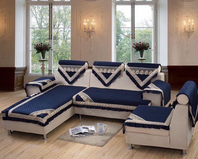 Top Grade New Design Plush Fabric Anti Slip Quilting Sofa Cover In