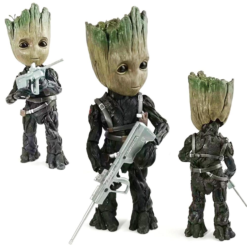 Marvel galaxie gardiens bébé Groots arbre homme Cosplay hiver soldat SHF BJD poupées Avengers Action Figure Collections