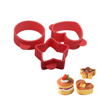3pcs Set Silicone Cake Mold Bakeware Tool Kitchen Dining Bar Baking Homemade Stencil Accessories Supplies Items