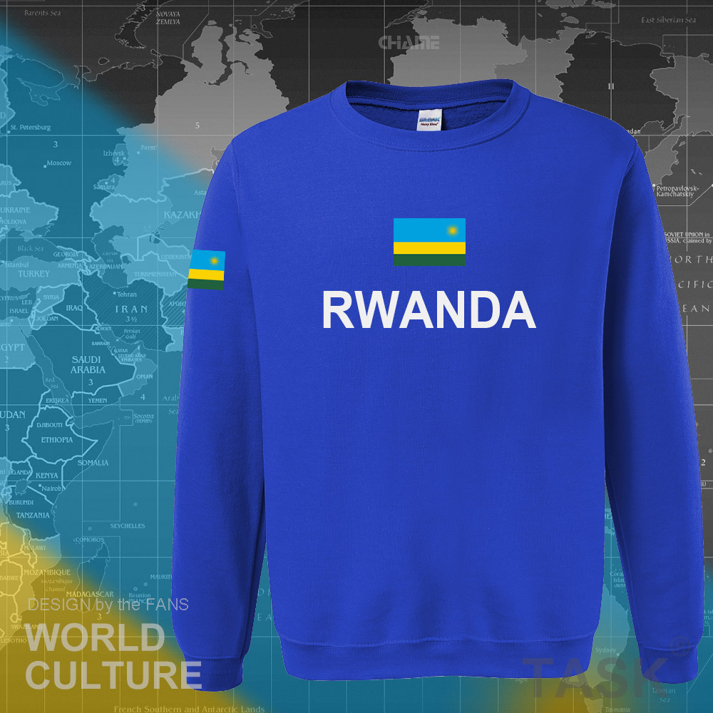 Rwanda Rwandan Rwandese hoodies men sweatshirt polo sweat new hip hop streetwear flag nation team country tracksuit nation RWA