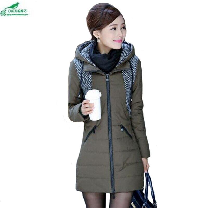 Korean middle - aged women's temperament warm large size leisure cotton long coat thick winter jacket Outerwear OKXGNZ QQ900 цена