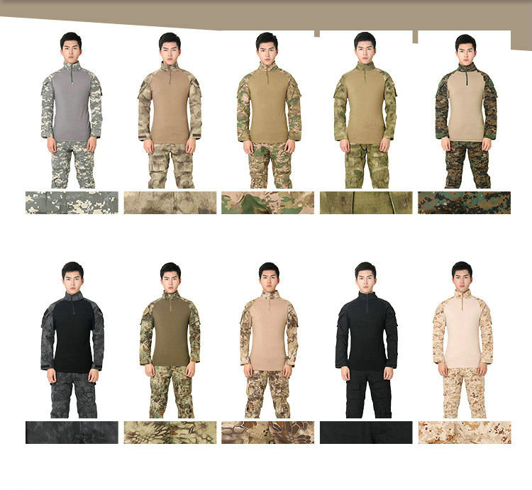 цена на Men's Outdoor Safety Protective Clothing Tactical Gunfight Set Game Set, Rainforest Jungle Field Set Camouflage Clothing