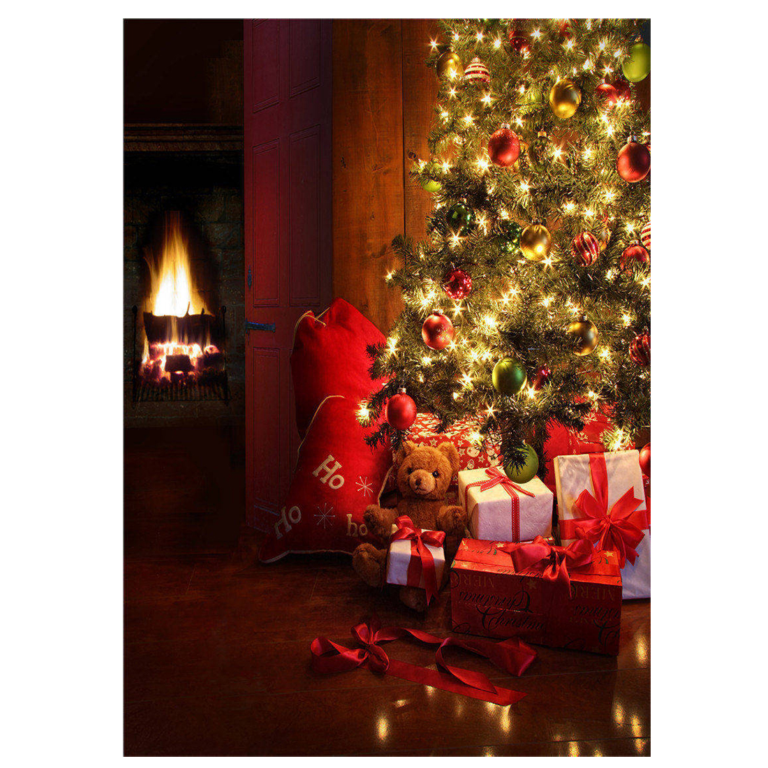 Photography Backdrops Christmas Tree Children Photo Props Background Vinyl 5x7FT shengyongbao 300cm 200cm vinyl custom photography backdrops brick wall theme photo studio props photography background brw 12