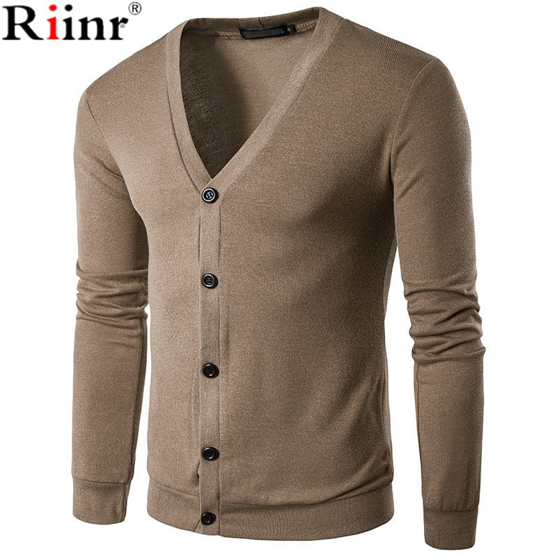 Riinr 2017 Fashion New Single Breasted Mens Sweater High ...
