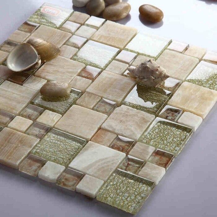 free shipping! glass mixed natural MARBLE STONE mosaic <font><b>tiles</b></font> backsplash, bathroom <font><b>tiles</b></font> fireplace, home improvement