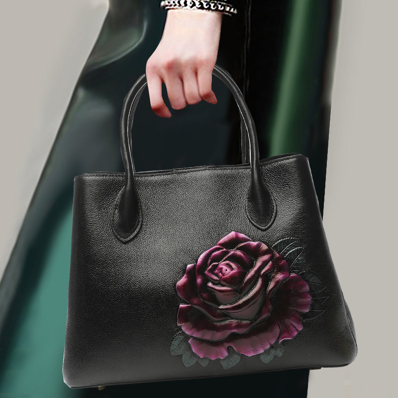 Chinese Style Women Noble Handbag Soft Genuine Leather Top Leather Fashion Party Top-handle Bag Totes Shoulder Bags CrossbodyChinese Style Women Noble Handbag Soft Genuine Leather Top Leather Fashion Party Top-handle Bag Totes Shoulder Bags Crossbody