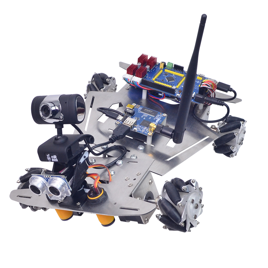 MODIKER Programmable Toys FOR XR Master Omni-directional Mecanum Wheel Robot High Tech Toys - WIFI Version