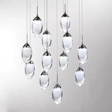 LED Crystal Glass Ball Pendant Lamp Meteor Rain Meteoric Shower Stair Bar Droplight Chandelier Lighting AC110-240V