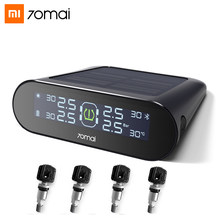 Xiaomi 70mai TPMS Tire Pressure Sensor Monitoring Systerm Solar Power Bluetooth LCD Display Car Security Alarm Tyre Pressure(China)