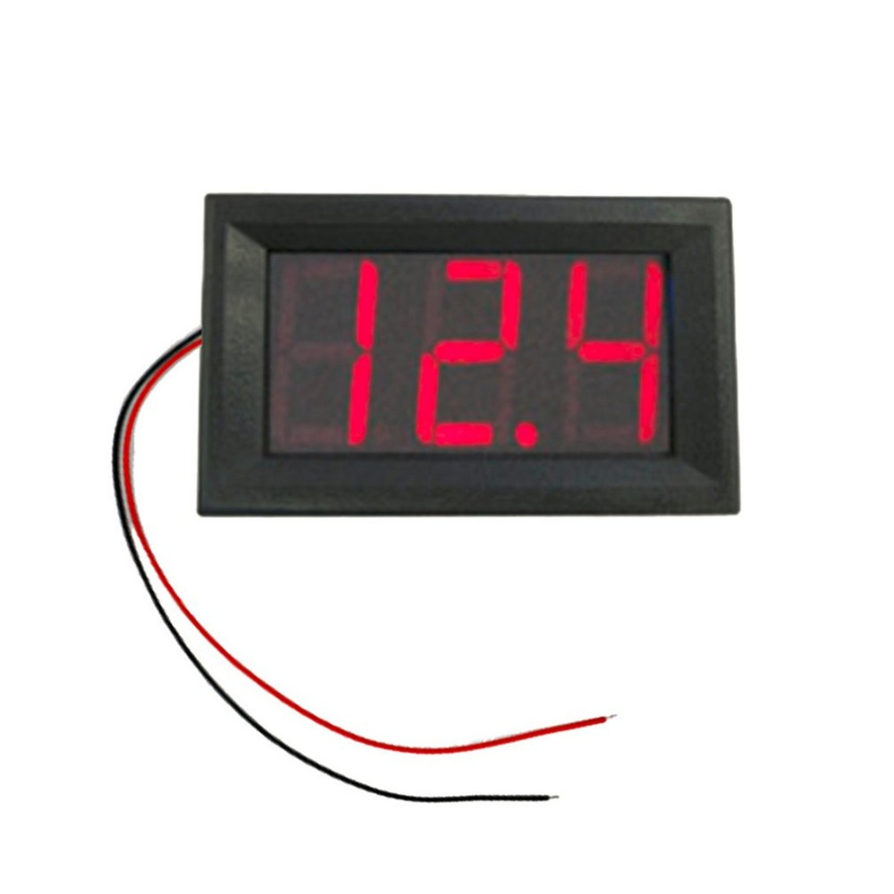 DC4.5V-30.0V 0.56in 2 Wire LED Digital Display Voltmeter Electric Voltage Meter Volt Tester For Auto Battery Car Motorcycle