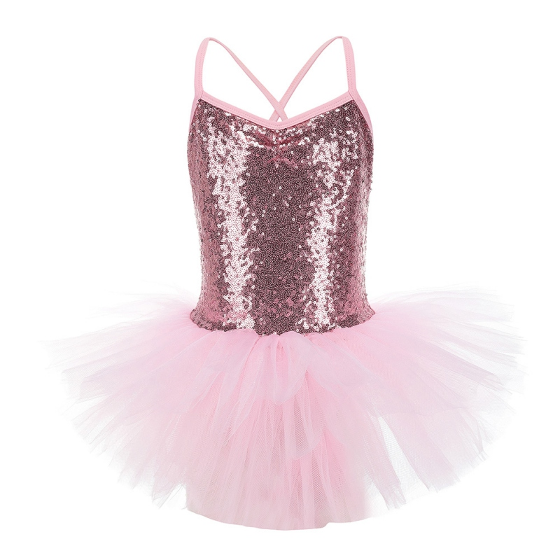 Girls\'s Lovely Kids Ballet Gymnastics Leotard Dress Sequined Dance Dress Professional Ballet Tutu Dress