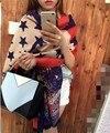 2016 Новый Зимний Звезда Печати Reverible Женщины Леди Теплый Пашмины Кашемир Длинные Шарфы Большой Украл Обруч Шали Шарф 70 см * 190 см